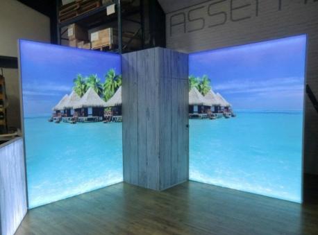 Stand modulaire et caisson lumineux de magik expo pour vos for Caisson lumineux exterieur