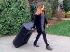 Comptoir valise à roulettes